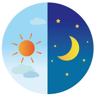 日中に分泌されたセロトニンを原料にして、夜になると分泌され始めて睡眠を促すのがメラトニン