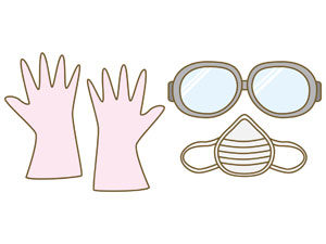 花粉症対策として、外出時にはマスクやゴーグルをするが有効です