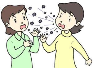 インフルエンザの感染経路の一つに飛沫感染が上げらます