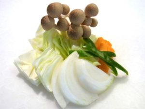 野菜や食物を普段より大きく切る