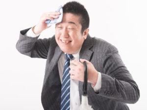 猛暑や高温多湿での発汗による体力消耗も夏バテの原因となります