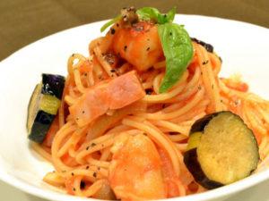 免疫力を高める食べ物~おススメ夏野菜を使ったお料理 なすとベーコンのパスタ