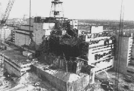 チェルノブイリ原発事故の写真