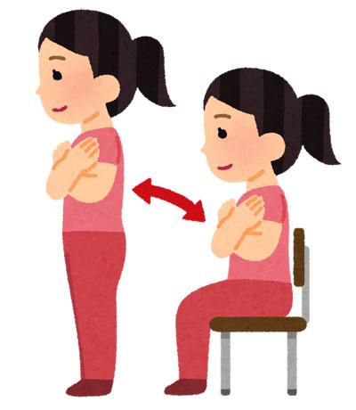 手軽で簡単な「免疫力を高める」運動の一つは、スクワットです